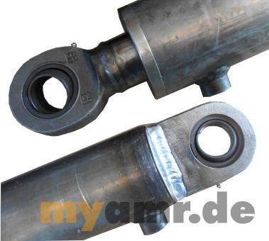 Hydraulikzylinder doppeltwirkend mit Gelenkaugen 90/50x1000 Hub