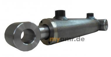 Hydraulikzylinder doppeltwirkend mit Schwenklagerbuchsen 100/50x0100 Hub