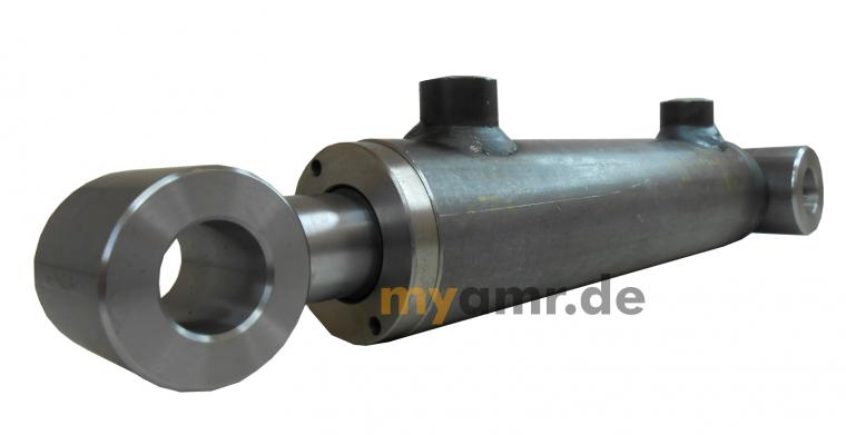 Hydraulikzylinder doppeltwirkend mit Schwenklagerbuchsen 50/30x0450 Hub